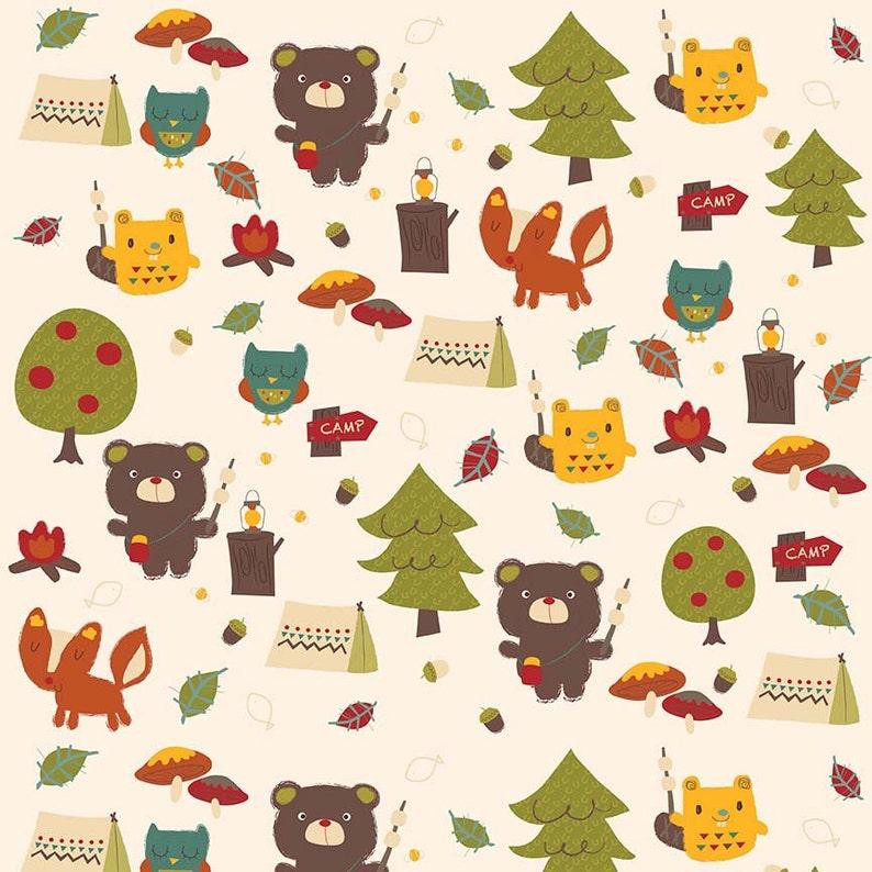 you choose the cut Alpine Fabrics Bear Country Flannel in Cream FLANNEL by Alpine Fabrics