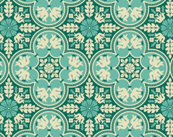 Notting Hill Historic in Teal by Joel Dewberry - by the yard