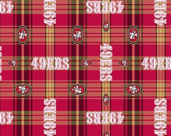 Licensed Fleece -  NFL San Francisco 49ers Fabric - your choice of cut