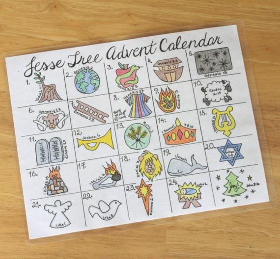 photograph regarding Jesse Tree Symbols Printable identified as Printable Jesse Tree Introduction Calendar for Xmas