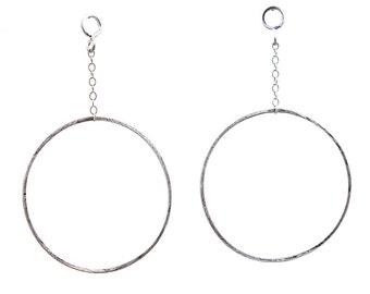 19a40a790 Hoop Stud Earrings, Silver Hoop Earrings, Post Drop Earrings, Stud Dangle  Earrings, Statement Earrings, Chain Earrings, Phylicia Earrings