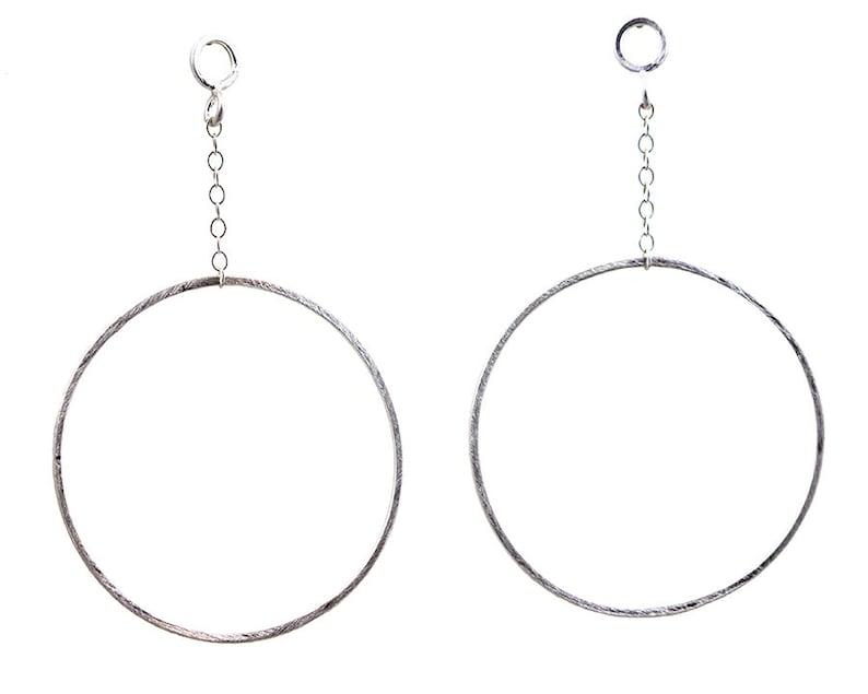 795dc8761 Hoop Stud Earrings Silver Hoop Earrings Post Drop Earrings | Etsy