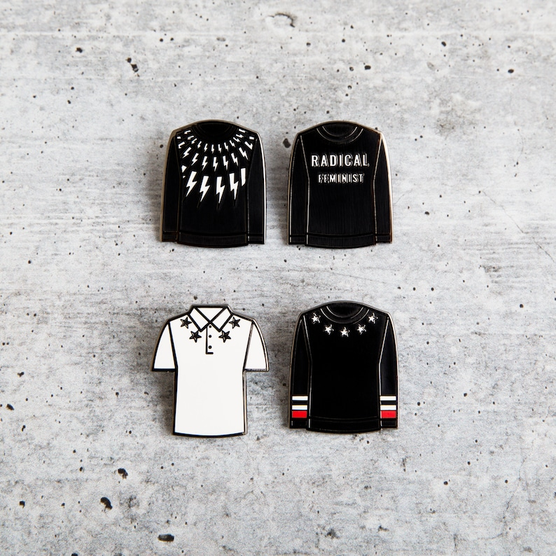 Top 27 Best Schitt's Creek Gifts from Etsy featured by top Seattle lifestyle blogger, Marcie in Mommyland: DAVIDS SWEATERS Lapel pin set ONE OF EACH (4)