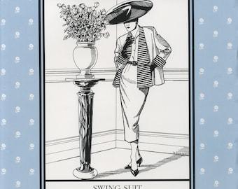 Swing Suit, Jacket, Pencil Skirt, Folkwear 255, Sewing Pattern, Clothing Pattern, Early 1950s era