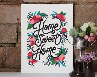 Home Sweet Home Art Print 8x10