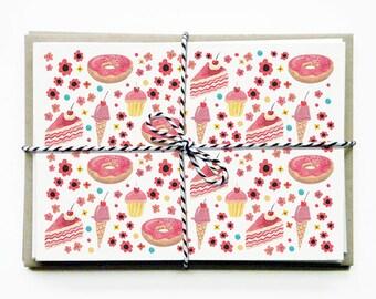 Card Set - Pink Cake - Set of Five