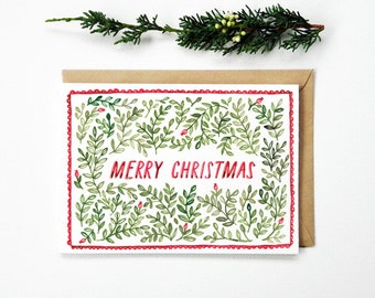 Christmas Card Foliage