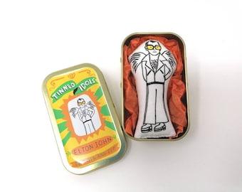 Elton John - Tinned Idol - mini collectable doll
