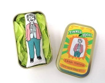 Sandi Toksvig - Tinned Idol - mini collectable doll