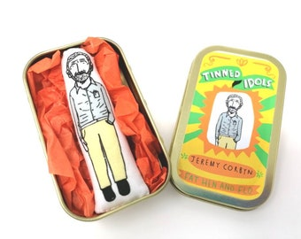 Jeremy Corbyn - Tinned Idol - mini collectable doll