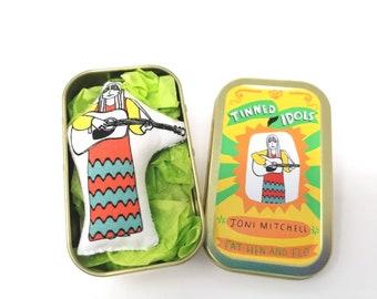 Joni Mitchell - Tinned Idol - mini collectable doll
