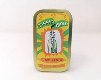Judi Dench - Tinned Idol - mini collectable doll