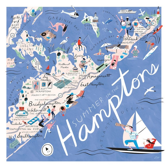 Summertime in the Hamptons Map, 20