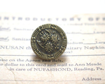 Ring Around the Posies Antique Metal Button