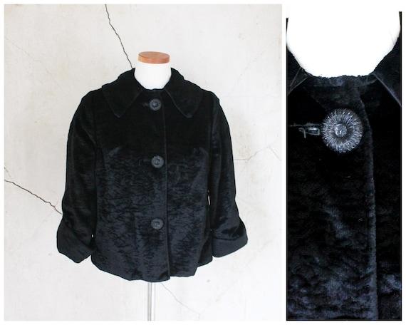 1950s Swing Jacket Evening Jacket Faux Persian Lam
