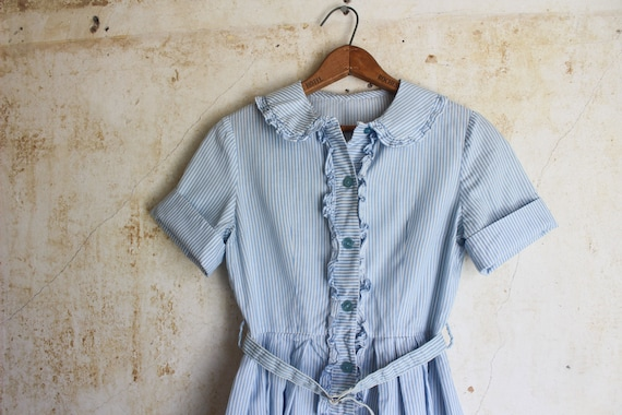 Vintage 50s Striped Shirtdress