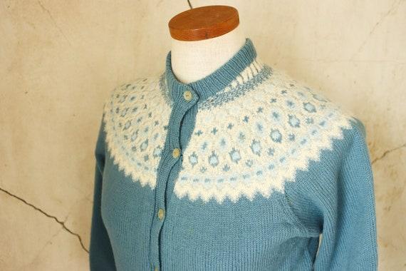 Denmark Vintage 50s Cardigan Hand Knit