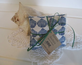 Maine Balsam Fir Sea Scallop Shell Sachet Set of 3 Pine Scent Ready to Ship Free Shipping Ready to Ship