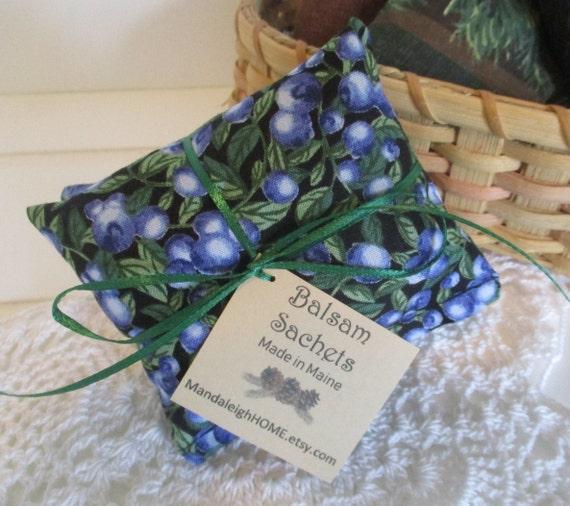 Balsam Sachet Balsam Fir, Blueberry Maine Outline