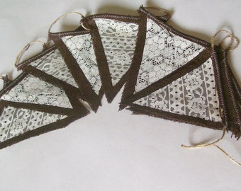 Lace and Burlap Bunting