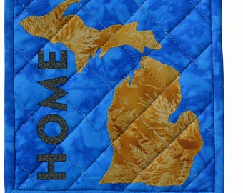 Game Day for Michiganders baby quilt