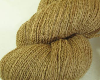 Wool Yarn - Fingering - Walnut Natural Dye - Foraged Local Color from Wisconsin - YAF121704 - 100 grams