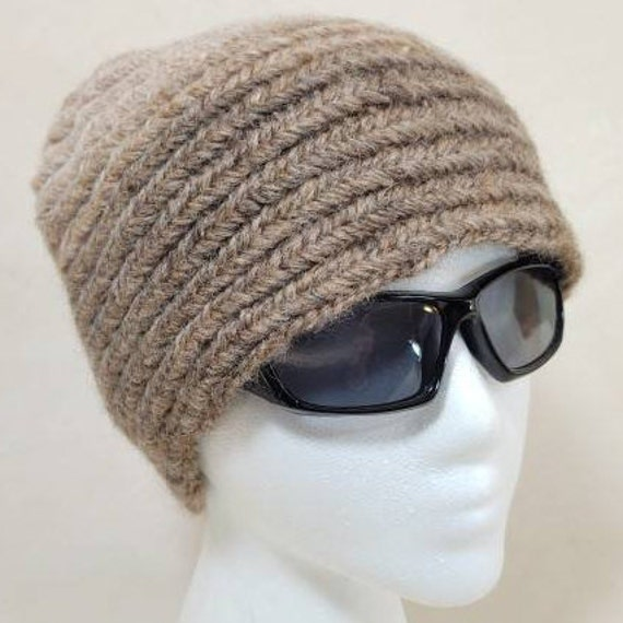 Ready to Ship Gift Nalbinding Hat WNH112021 Adult Natural and Plant-Dyed Handspun Wool
