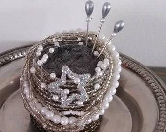 Silver Celebration Pincushion