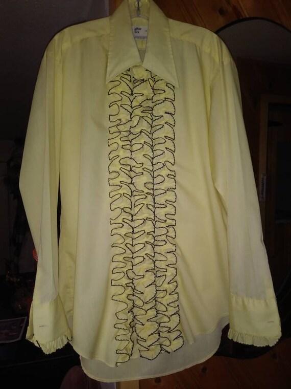 1970's men's ruffled tuxedo shirt