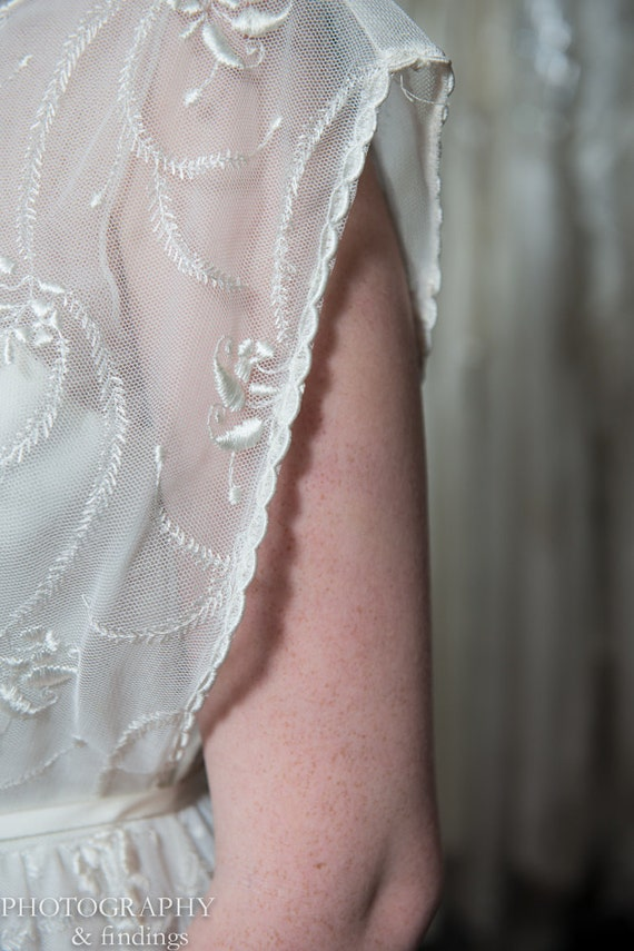 Wedding Gown Vintage Couture Designer Embroidered… - image 4