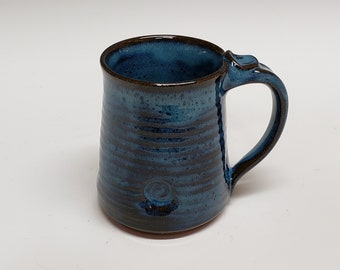 Adaptive Mug Stoneware Mottled Blue