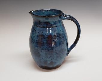 Stoneware Blue Pitcher 1 qt size