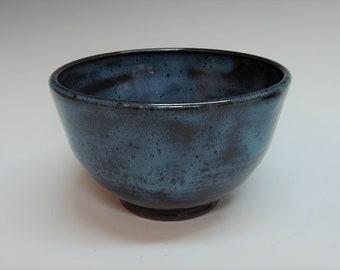 Mottled Blue Bowl Soup or Cereal
