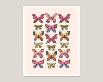 You Give Me Butterflies - Art Print 8x10