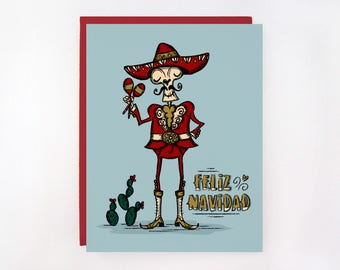 Mariachi - Feliz Navidad - Christmas Greeting Card
