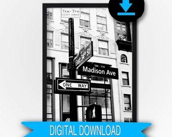 Madison Av Printable New York City Photo 50x70 16x20 11x14 8x10 5x7
