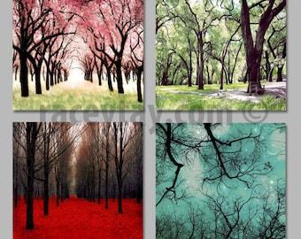 Nature Photography 4 Seasons Wall Art Canvas Wall Art Four Seasons Art 4 Seasons Tree Four Seasons Wall Art & 4 seasons wall art | Etsy