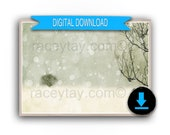 Printable Nordic Winter Art, Holiday Decor, Scandinavian Nature Photography, Snowy Scene 8x10