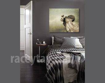 Washington DC Art on Canvas - Large Canvas Art- Neutral Brown Gray Beige Canvas Wall Art Print
