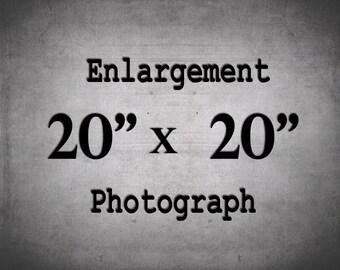 20x20 Print, Large Wall Art, 20x20 Photo, Custom Enlargement
