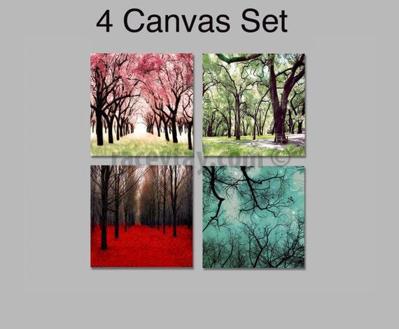 sc 1 st  Etsy & Nature Photography 4 Seasons Wall Art Canvas Wall Art Four