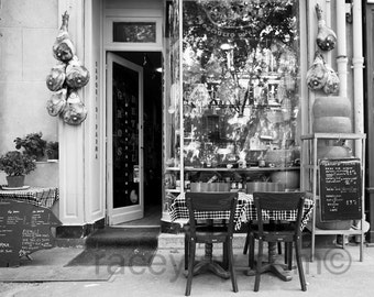 Black White Paris Photography, French Cafe, Rustic Kitchen Decor, French Country, Black and White Photos