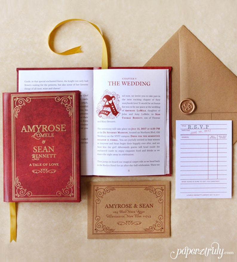 Fable  Storybook Wedding Invitation  SAMPLE ONLY Price is image 0