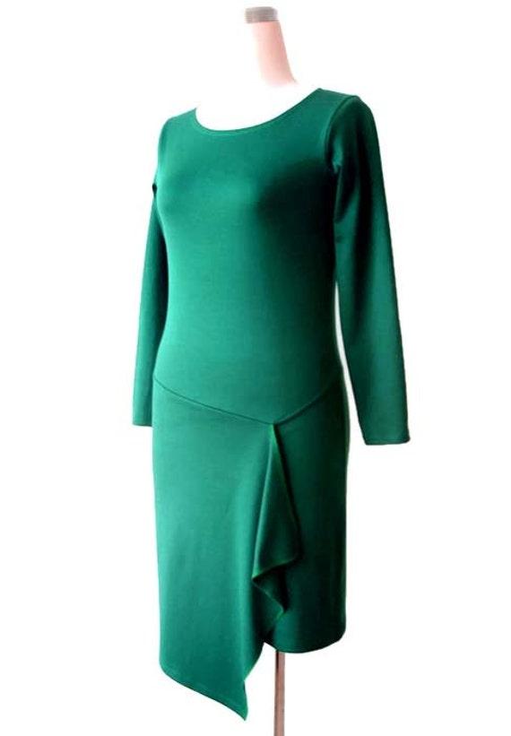 dress dress L sleeve Asymmetric SALE 14 dress Green US ship Dress size dress Sale Jersey Pencil to Ready 12 Dress dress Dress Long YfxOgqI