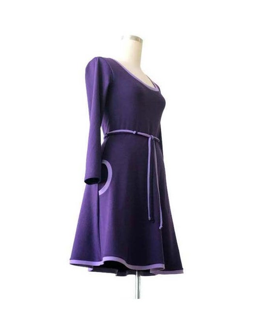 Long sleeve dress, Plus size dress, Plus Size Clothing, Pocket Dress,  Jersey Dress, Custom Plus Size Dress, A line dress, Womens clothing
