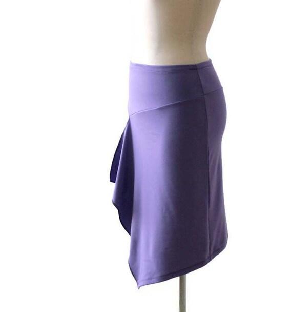 wrap plus skirt pencil skirt skirt Wrap length clothing size skirt Jersey Plus skirt Womens tulip Knee Spring Asymmetric skirt size wrap OHqxw85pWX