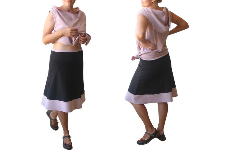 7ecf2f096c9596 Plus size A line skirt Stretchy jersey skirt Black skirt | Etsy