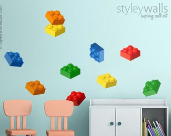 84837eeed15 Lego wall decal