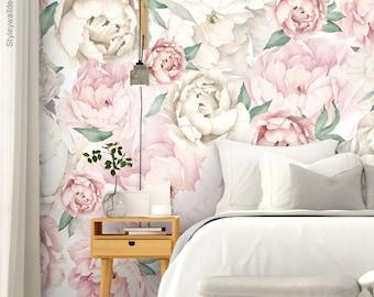 Floral wallpaper | Etsy