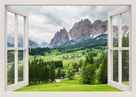 Berg Wandtattoo 3d Fenster Natur Wand Aufkleber Etsy